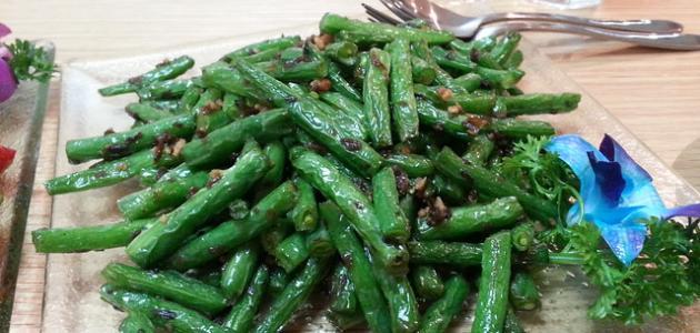 أطباق لوبيا خضراء