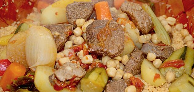أطباق مغربية باللحم
