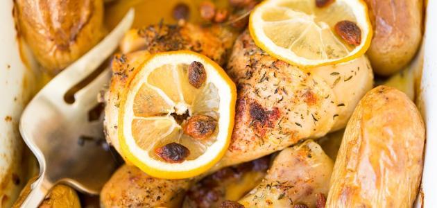 أطباق من صدور الدجاج المخلية