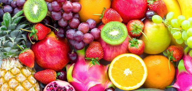 جميع أنواع الفواكه