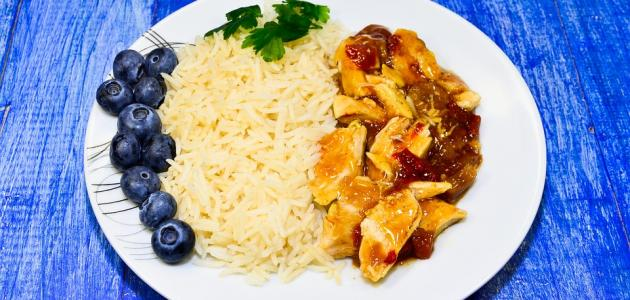 أكلات دجاج وأرز