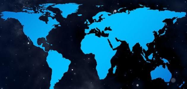 ترتيب القارات من حيث المساحة