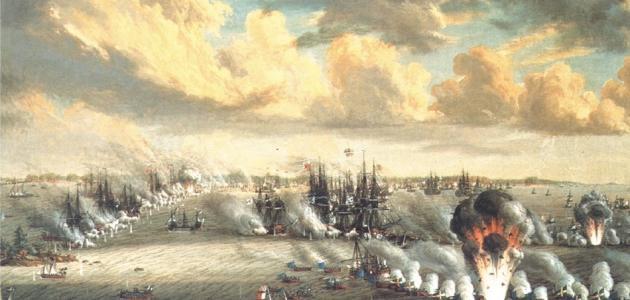 أول معركة بحرية إسلامية