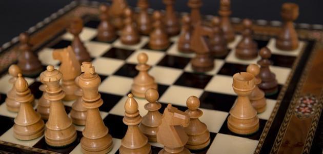 ترتيب قطع الشطرنج