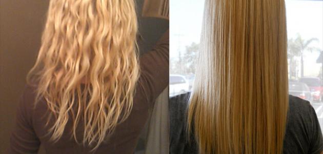 كيف يتم تمليس الشعر