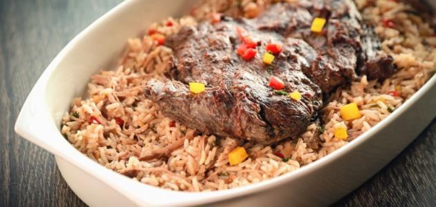 طريقة أرز البخاري باللحم