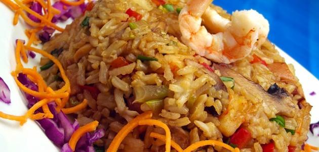 طريقة الأرز بالجمبري