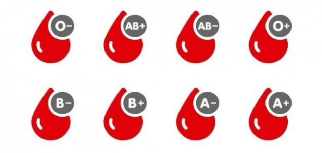 الطعام وفصيلة الدم