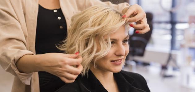أنواع قصات الشعر القصير