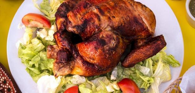 تحضير دجاج محمر