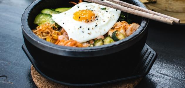أطباق كورية سهله