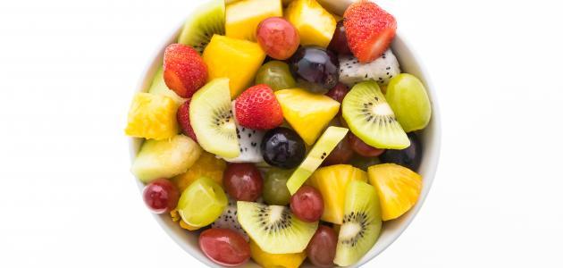 أشكال طبق الفاكهة