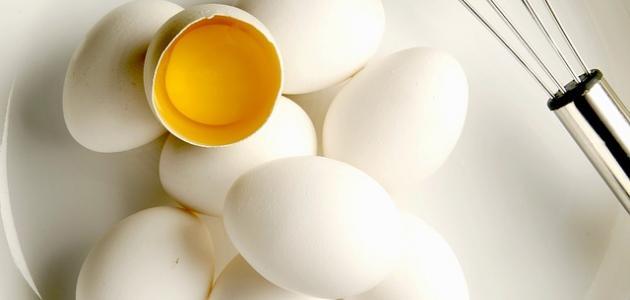 قناع بياض البيض للوجه