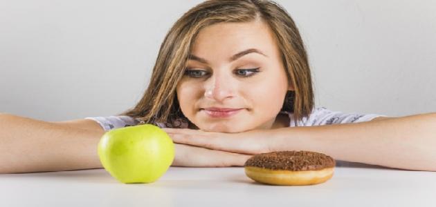أطعمة صحية وغير صحية