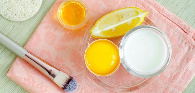 قناع الحليب والليمون للوجه