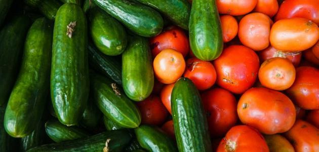 فوائد الخيار والطماطم