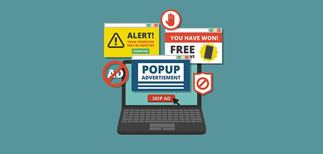 التخلص من الإعلانات المزعجة والنوافذ المنبثقة