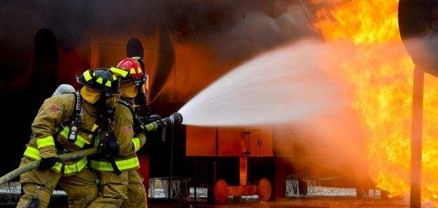 التصرف عند حدوث حريق