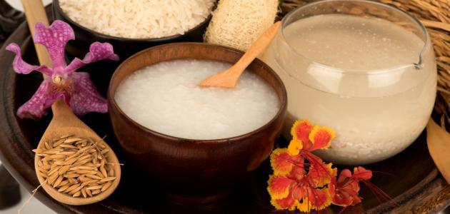 ماء الأرز للبشرة