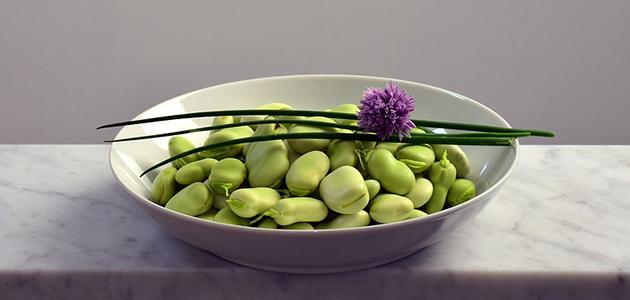 أكلات فول أخضر