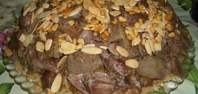 المقلوبة باللحم على الطريقة السورية