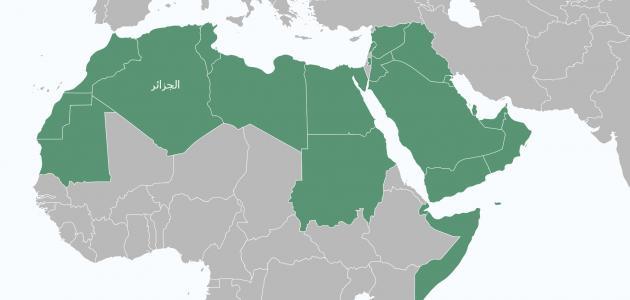 أين تقع الجزائر بالنسبة للوطن العربي