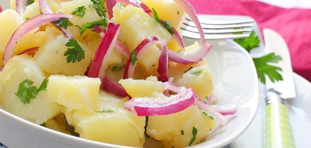طريقة عمل سلطة البطاطس
