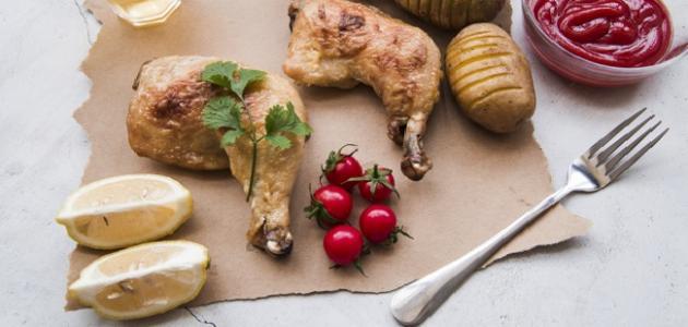 طريقة تحضير أفخاذ الدجاج في الفرن