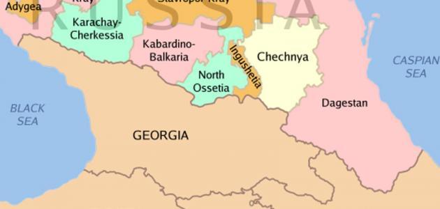 أين تقع الشيشان في الخريطة