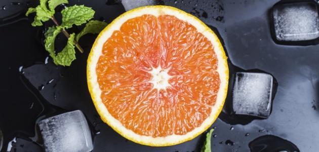 ماسك عصير البرتقال للوجه