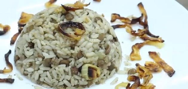 طريقة طبخ مجدرة الأرز السورية