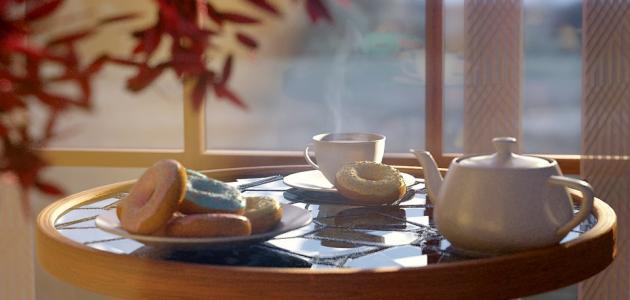 طريقة تقديم القهوة والشاي للضيوف