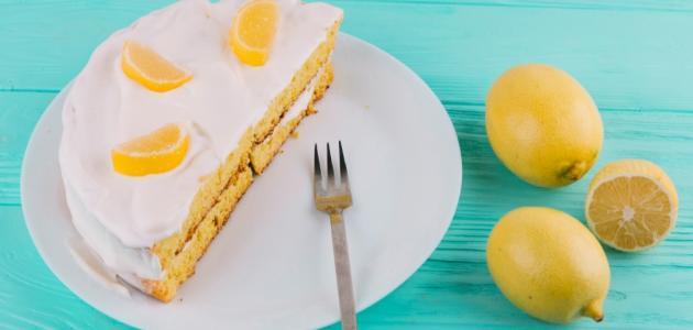 كيكة الليمون بدون بيض