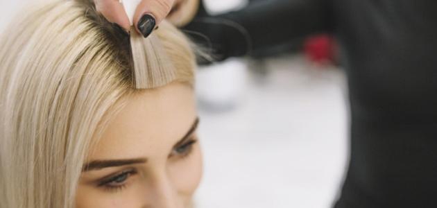 أنواع خصل الشعر