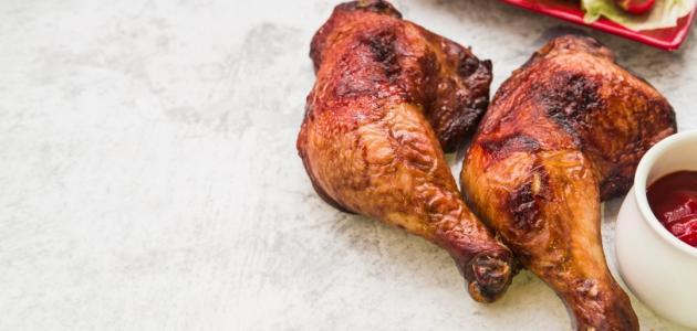 طريقة عمل أفخاذ الدجاج في الفرن