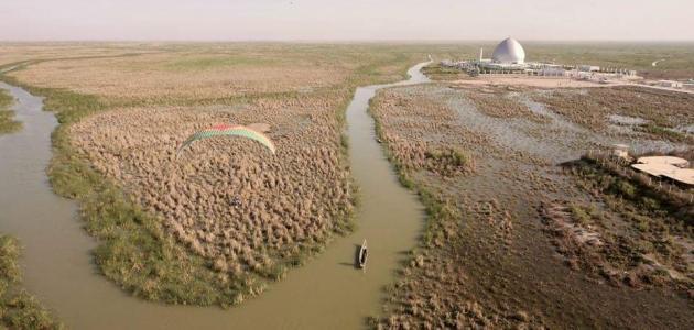 أين يصب نهر دجلة والفرات