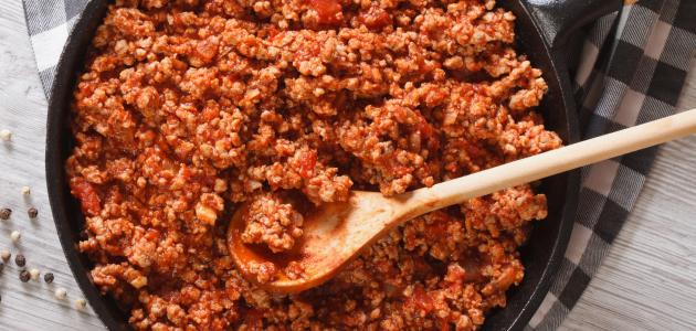 كيف اطبخ لحم مفروم