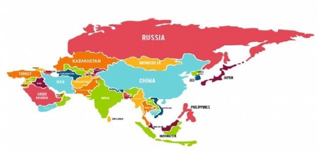 بحث عن تضاريس قارة آسيا