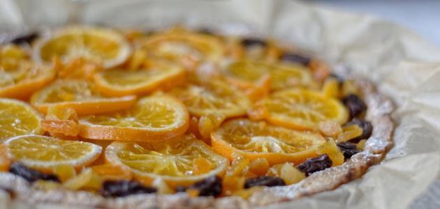 كيكة البرتقال المقلوبة