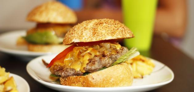 طريقة عمل برغر لحم صحي