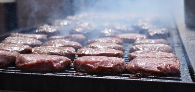 طريقة شوي برغر اللحم