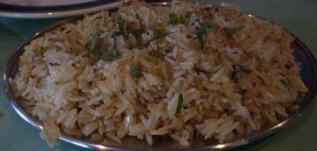 طريقة عمل أرز ابيض مفلفل