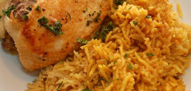 طريقة تحضير أرز أزعر بالدجاج