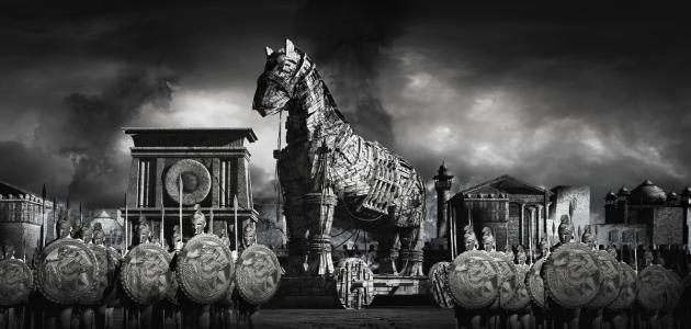 ما قصة حصان طروادة