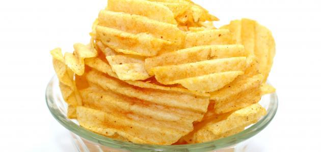 طريقة عمل شيبس البطاطا بالبيت