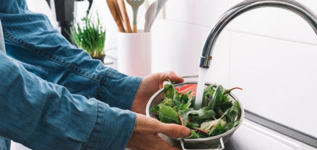 كيفية غسل الخضار والفواكه