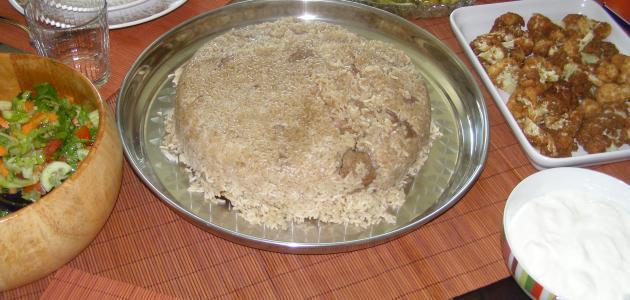 طريقة عمل مقلوبة الدجاج بالباذنجان