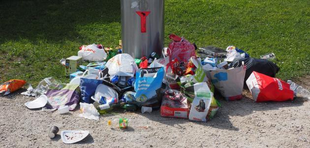 أضرار رمي النفايات