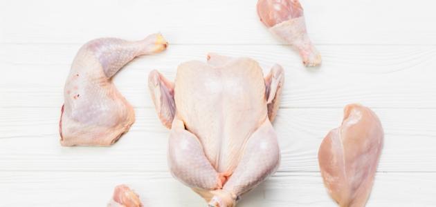 كيفية غسل الدجاج