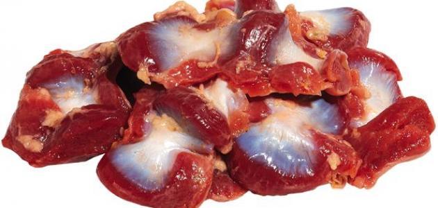 طريقة طبخ قوانص الدجاج